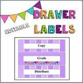Plastic Drawers Organizational Labels- Editable