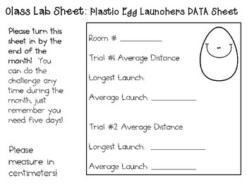 Plastic Egg Launchers ~ Monthly School-wide Science Challenge ~ STEM