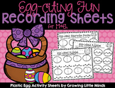 Plastic Egg Recording Sheets for Math