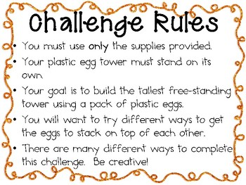 Plastic Egg Towers - STEM Engineering Challenge