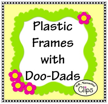 Plastic Frames with Doo-Dads - Clip Art