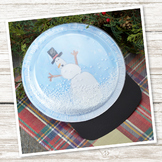 Plastic Plate Snowglobe Craft (Winter)