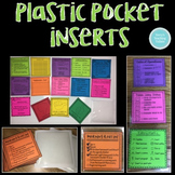 Plastic Pocket Inserts {Square} - Editable Checklists Included