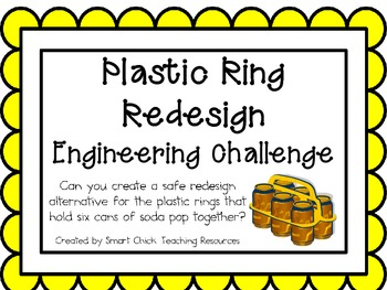 Plastic Ring Redesign: Engineering Challenge Project ~ Great STEM Activity!