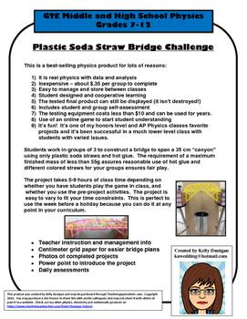 Plastic Soda Straw Bridge Build Challenge - Physics Project - STEM