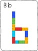 Plastic building block - A to Z letter formation activity mats - without images