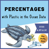 Plastic in Oceans Percent Math Activity