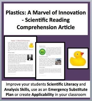 Plastics: A Marvel Of Innovation - A Science Reading Compr