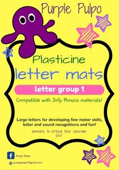 Plastie letters (plasticine letter formation cards) Group 1 phonics