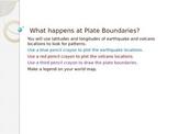 Plate Boundaries Activity Lesson 5