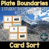 Plate Boundaries Card Sort