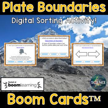 Plate Boundaries - Digital Boom Cards™ Sort