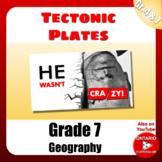 Plate Boundaries Digital Worksheet - Ontario Grade 7 Geography
