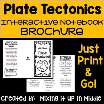 plate tectonics wheel foldable pdf