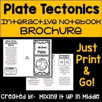 Plate Boundaries/Plate Tectonics Interactive Notebook Fold