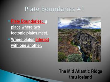 Plate Boundaries: Power Point Presentation