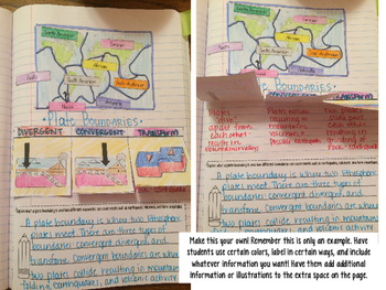 Plate Boundaries Reading Comprehension Interactive Notebook