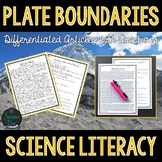 Plate Boundaries - Science Literacy Article