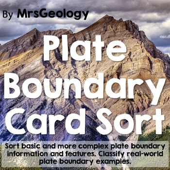 Plate Boundary Card Sort