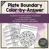 Plate Boundary Science Coloring Page