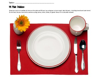 Plate Setting Project- Food Practice