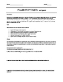 Plate Teconics Web Quest and One Paragraph Essay
