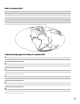 Plate Tectonic Note Packet