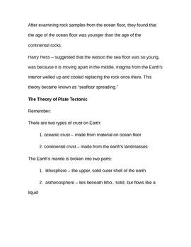 Plate Tectonic Notes (Editable)