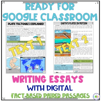 Plate Tectonics Paired Texts:Writing On-Demand Informational Explanatory Essays