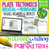 Plate Tectonics Paired Texts:Writing On-Demand Informational Explanatory Essay