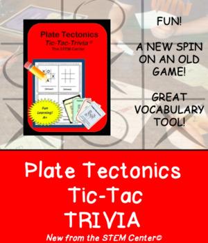 Plate Tectonics Tic-Tac-Trivia Board Game