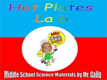 NGSS MS./HS. Earth's Systems: Plate Tectonics Hot Plates Lab