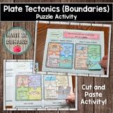 Plate Tectonics Puzzle Activity (Plate Boundaries)