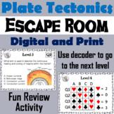 Plate Tectonics Activity Escape Room: Continental Drift, Plate Boundaries, etc.