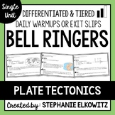 Plate Tectonics Bell Ringers