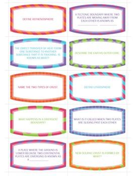 Plate Tectonics - Bundle - 30 Task Cards & 1 Word Search