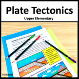 Plate Tectonics Close Read and Lab NGSS 4-ESS2-2 and 4-ESS1-1