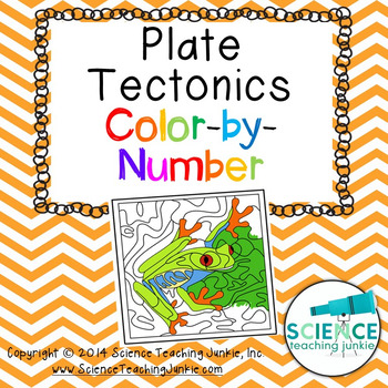 Plate Tectonics Color By Number