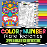 Plate Tectonics Color by Number - Science Color by Number