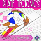 Plate Tectonics Earth Science Color-by-Number Review Activity