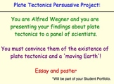 Plate Tectonics & Continental Drift Essay Project, Rubic & Research Presentation
