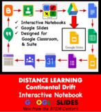 Plate Tectonics & Continental Drift INB on Google Slides - Distance Learning