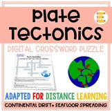 Plate Tectonics: Continental & Seafloor Spreading Crosswor