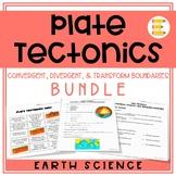 Plate Tectonics: Convergent, Divergent, & Transform Boundaries BUNDLE (3 in 1!)