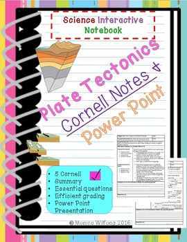 Plate Tectonics Unit Cornell Notes (5 lessons and PowerPoint)