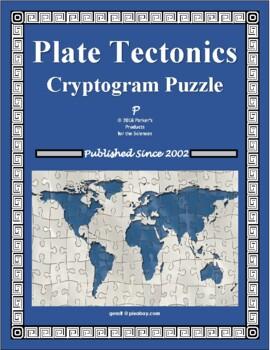 Plate Tectonics Cryptogram Puzzle