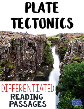 Plate Tectonics Differentiated Reading Passages & Questions