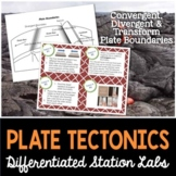 Plate Tectonics Student-Led Station Lab - Distance Learning
