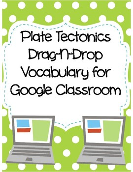 Plate Tectonics Drag-n-Drop Vocab for Google Classroom
