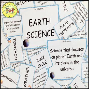 Plate Tectonics Vocabulary Cards